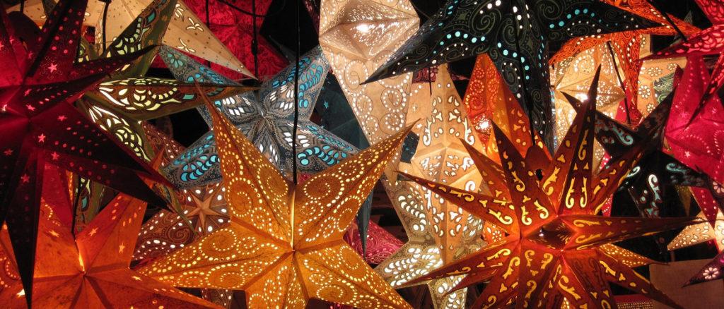 verlichte kerstster voor jouw kerstdoek