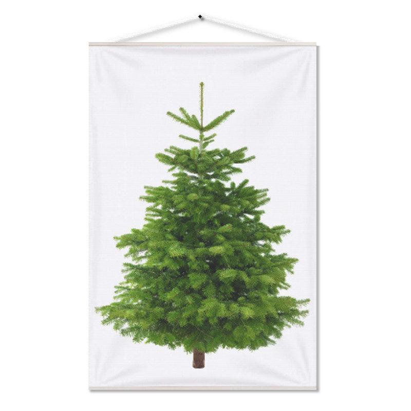 Kerstboom op Doek Groen