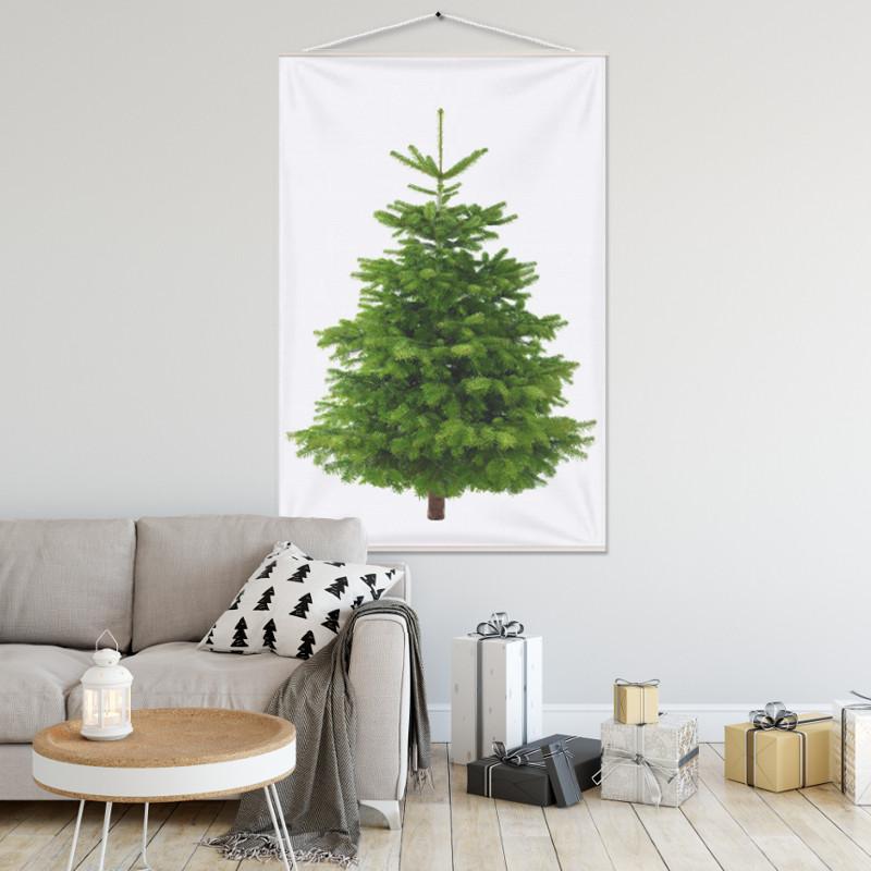 Kerstboom op Doek - Kerstboom Groen - 100 x 150 cm (B x H)