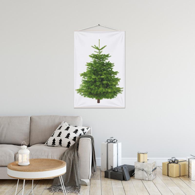 Kerstboom op Doek Groen 70 x 100 cm